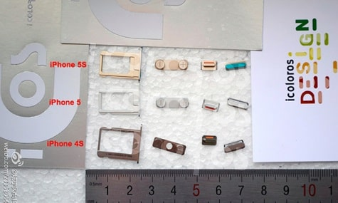 Alleged iPhone 5S components leaked; gold color likely?