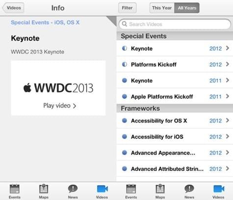 Apple releases WWDC app