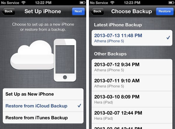 Retrieving deleted data from an old iCloud backup