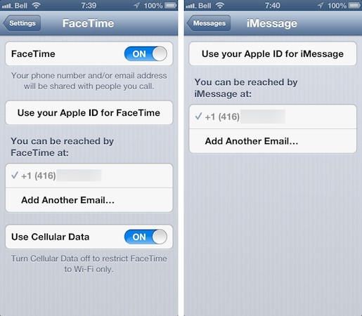 FaceTime and International phone numbers