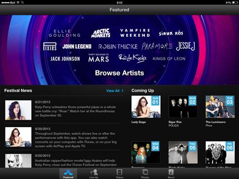 iTunes Festival returns to Apple TV, iOS