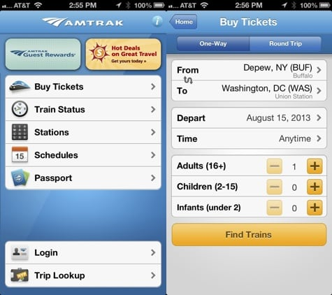 Apps: Amtrak 1.6, Flipboard 2.0.5, Plants vs Zombies 2 1.1 + Yelp 7.0