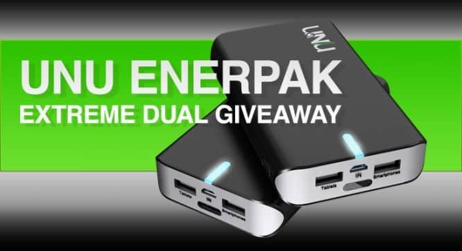 Unu Enerpak Extreme Dual Giveaway – Winners Announced