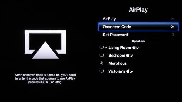 Controlling who can AirPlay to your Apple TV