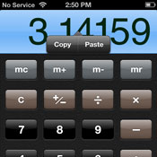 Copying results from the iOS Calculator