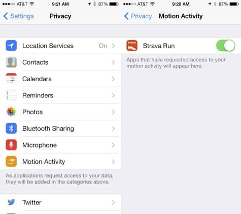 Strava, MotionX-24/7, Argus apps now support iPhone 5s M7