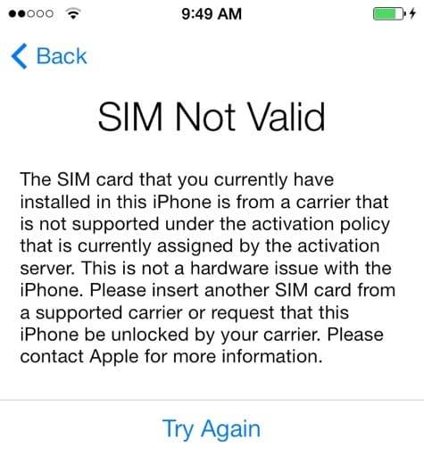 Some Verizon iPhone 5s units having SIM issues?