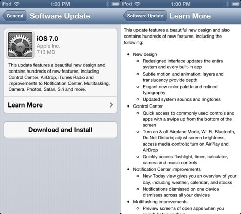 Apple releases iOS 7 to the public