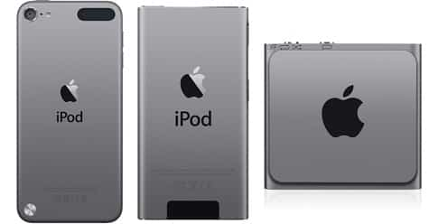 Apple intros space gray iPod touch, nano, shuffle