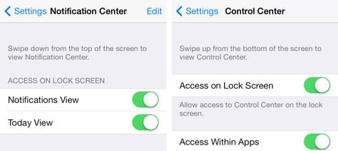 iOS 7: Securing the Lock Screen