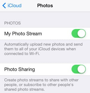 Sync only selected photos between devices via iCloud