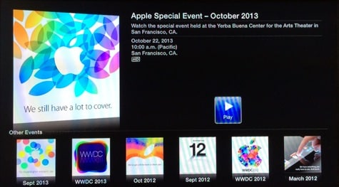 Today's Apple event to stream live on web, Apple TV