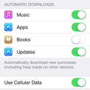 iOS 7: Enabling or Disabling Automatic App Updates