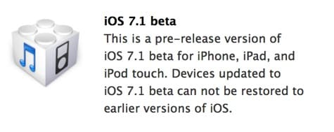 Apple releases iOS 7.1 beta to developers