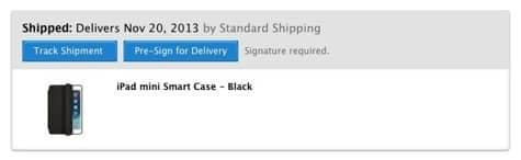 Apple offers Smart Case for Retina iPad mini cellular delays