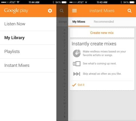 Google Play Music released for iOS