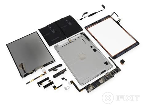 iPad Air teardown reveals 32.9 WHr battery, stereo speakers