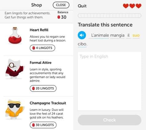 Apps: Duolingo 3.1.1, Google Search 3.2, QR Reader 4.0 + Zagat 2.0