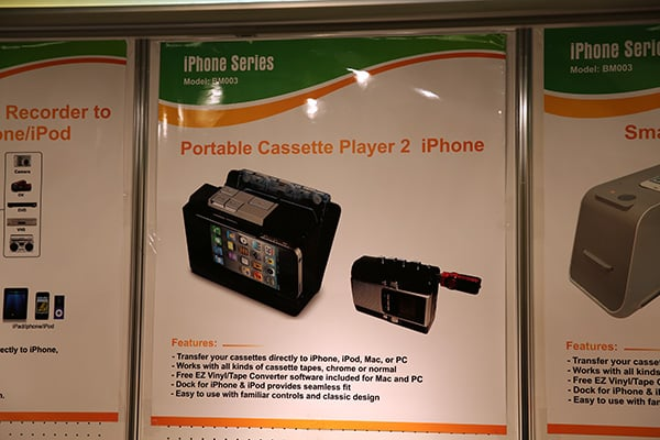 Weird at CES: iPhone cassette player, zombie case, orangutan