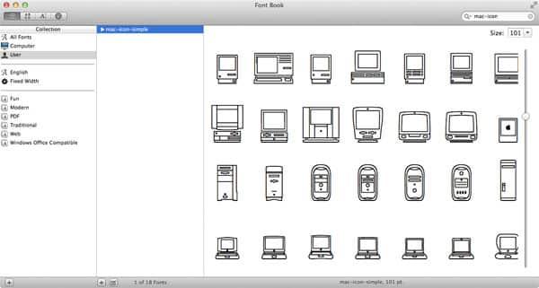 Apple Mac Icon Font