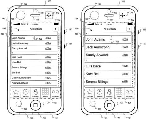 Apple patents automatic motion-adjusting UI