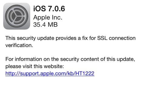 Apple releases iOS 7.0.6