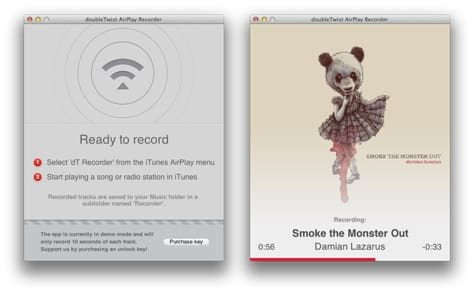 AirPlay Recorder allows iTunes Radio ripping