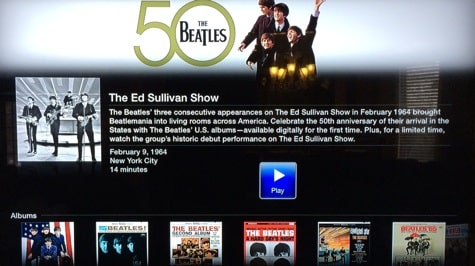 Apple TV adds The Beatles channel