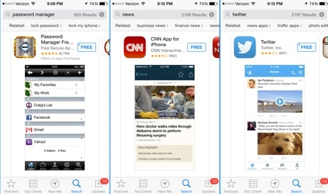 Apple 'related' search spotted in App Store