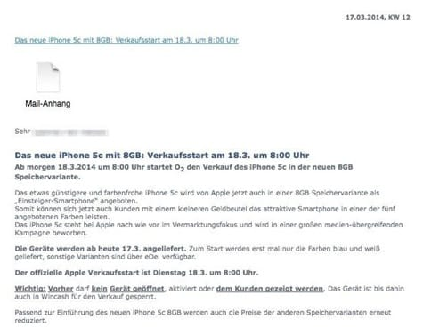 Apple to release 8GB iPhone 5c this week? (Updated)