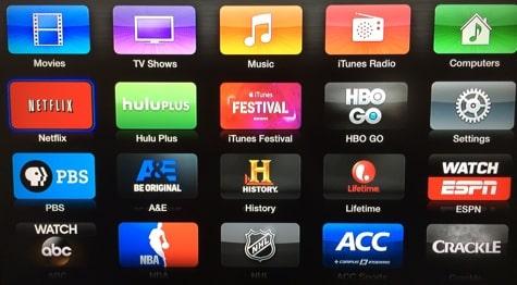 Apple TV adds A&E, History, Lifetime channels