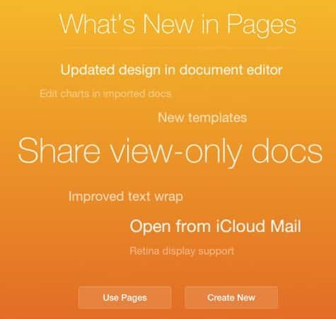 iWork for iCloud apps add shared view-only docs, other features