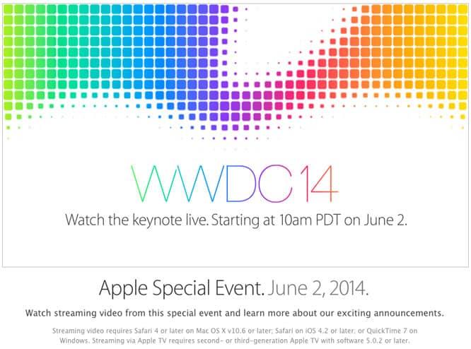 Apple to livestream 2014 WWDC keynote