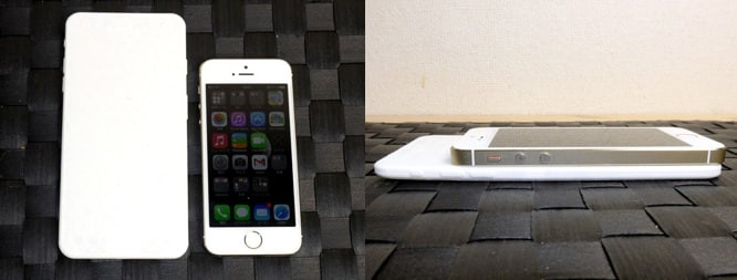 """Physical mockup of iPhone 5.5"""" compared to iPhone 5s"""