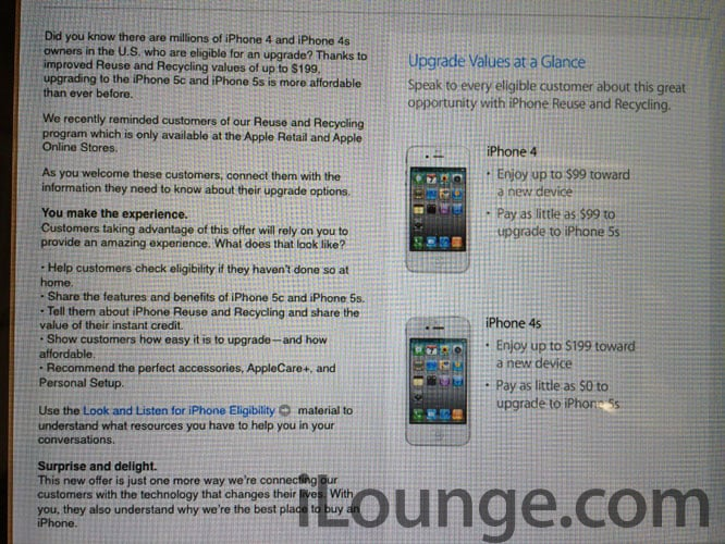 Apple to raise trade-in values for iPhone 4/4S