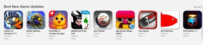 Apple adds Best New Game Updates section to App Store