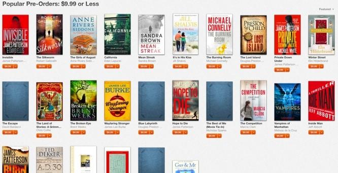 Apple promoting books Amazon won't sell
