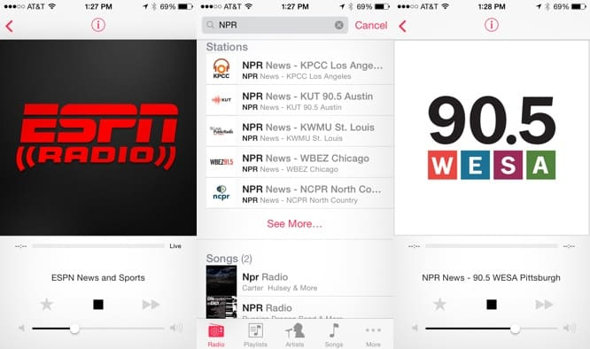 iTunes Radio adds ESPN Radio, local NPR stations