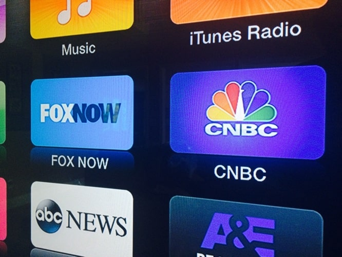 Apple TV adds FOX Now, CNBC channels