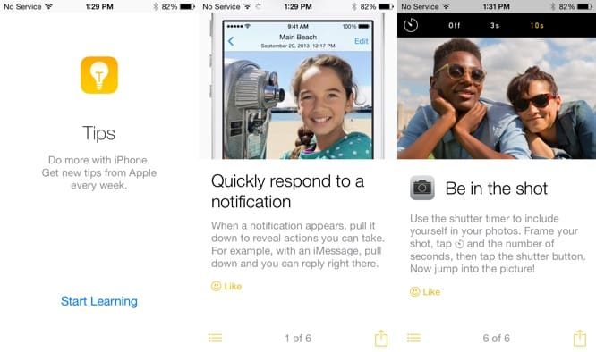 Tips app debuts in iOS 8 beta 4