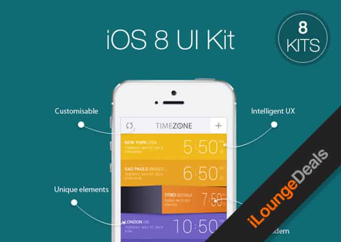 Daily Deal: Get eight UI Kits for iOS 8 for only $24.99