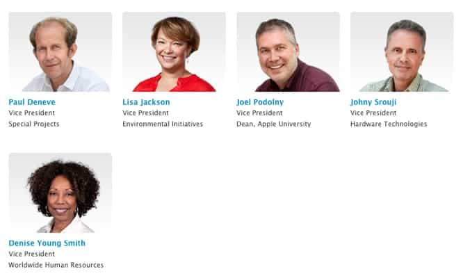 Apple adds more vice presidents to executive webpage