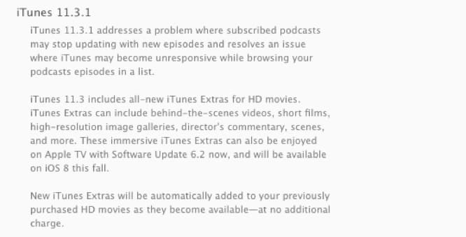 Apple releases iTunes 11.3.1