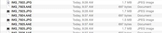 Apple using new AAE sidecar format for iOS 8 photos?