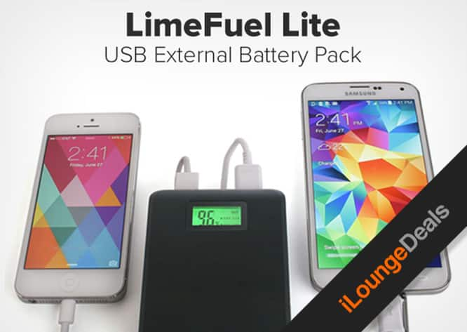 Daily Deal: Get the Limefuel Lite Dual-USB Battery Pack for $34.99