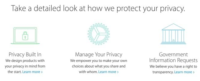 Apple launches new privacy webpage