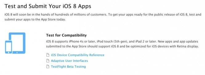 Apple now accepting iOS 8 app submissions
