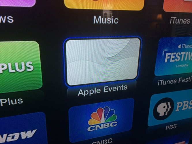 Apple Events channel returns to Apple TV for today's live stream