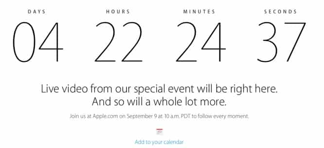 Apple announces live stream for September 9 event