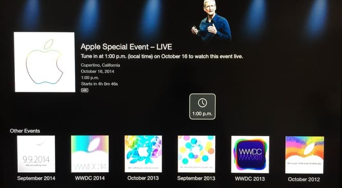 Apple Events channel up on Apple TV, Apple Online Store down ahead of event